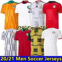 2020 2021 Egitto M.salah 10 Salah Coast Avorio Ghana Morocco Maglie da calcio 20 21 Casa Away Jersey Futbol Camisas Football Camisetas Kit camicia