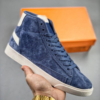 Scarpe da uomo Platform Shoes Blazer Mid Vintage Suede Skate Shate Shates Sb Stranger Things Designer Sneakers Leather Womens Trendy Scarpe casual da donna