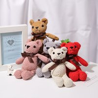 16 cm oso de peluche peluche peluche juguetes lindo vestido conejo colgante muñecas regalos cumpleaños boda fiesta decoración