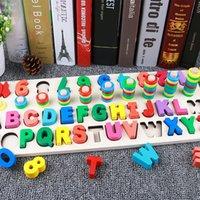 طفل خشبي لعب مونتيسوري الرياضيات لعبة عد الرقمية رسالة الإدراك مطابقة بانوراما ألعاب تعليمية ألعاب خشبية للأطفال C0119