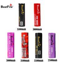 Ursprüngliche BestFire IMR 18650 3000mAh 3500mAh 3100mAh 2500mAh 35A 35A 40A Wiederaufladbare Batterie E CIG Batterie BestFire IMR Vape Batterie
