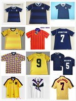82 86 Scotland Retro Fussball Jersey 2020 Schottland 90 92 94 96 97 Glasgow Rangers Retro Fussball Jersey 95 97 99 Celtic Retro Football Hemd