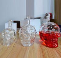 Kreative Kristall Schädel Kopf Flasche Whisky Whisky Wine Dekanter Flasche Whisky Glass Bier Glas Spirituosen Tasse Wasser Glas Jlhhgj MX_HOME
