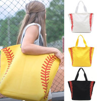 Foldable Shopping Bag Printed Portable Handbags Baseball Tot...