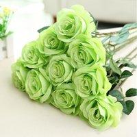 Künstliche Rose Seide Blume Blüte Bridal Bouquet Für Haus Hochzeit Dekor Blume Dekorationen für Ferienpartys YHM187-1
