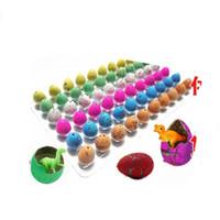 60 teile / satz Neuheit gag spielzeug kinder spielzeug niedlich magische schlüpfen ublkinanimal dinosaurier eier für kinder pädagogische spielzeug geschenke