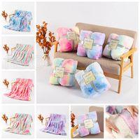 160 * 130 cm Krawatte Fuzzy Wurf Decke Doppelschicht Shaggy Decken Schlafzimmer Teppichbettwäsche Sofa Cover 5 Designs DHL Versand RRA3832