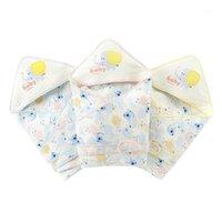 Одеяла, рожденные рожденные хлопковые упаковочные одеяло унисекс детское мультфильм печать тонкий теплый одеяло, получающий Swaddles1