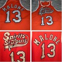 Özel 604 Gençlik Kadın Nadir # 13 Musa Malone St Louis Koleji Basketbol Jersey Boyutu S-4XL veya Özel Herhangi Bir Ad veya Sayı Forması