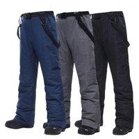 Лыжные брюки бренды теплые на открытом воздухе спортивные водонепроницаемые снежные брюки подтяжки зимний сноуборд -30 температура высокое качество1