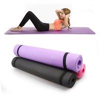 Йога коврики противоскользящие одеяло из ПВХ гимнастическое спортивное здоровье потерять вес фитнес-тренажеры женские мат1