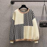 Plus Taille Femme 2020 Automne et hiver Wear NOUVEAU FAT SISH Tempérament amincissant le pull tricoté supérieur UK271