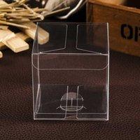 10pcs / lot 3x3x3cm 4x4x4cm scatola regalo in PVC trasparente quadrato macaron in plastica confezione scatola di imballaggio trasparente per cupcake macaron1