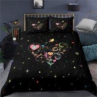 3d impressão digital amor conjunto de cama cupido, único rei duplo, cobertor / colcha / cobertura de edredão conjunto sonho amor bedclothes microfibra