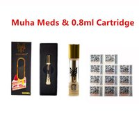 2020 Articolo di alta qualità MUHA Meds di ceramica bobina serbatoio vape cartuccia MUHA MEDS 0.8 1ML Olio vuoto Personalizza logo con imballaggio