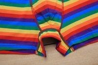 Nouveau design Sous-vêtements Rainbow Écouto Gay Pride Gay LGBT 100% coton Soft Boxers pour hommes 4 Tailles M-2XL XH717W