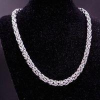 Braccialetto della collana della catena della scatola bizantina calda per gli uomini Boys 316L gioielli in acciaio inox 8mm 7-40 pollici