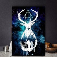 Abstract Figure Canvas Oil Painting Wall Art Harry Potter Ma...