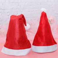 UPS! Natal chapéus de Santa CLUS Decorações comuns não-tecidos filhos adultos chapéus do partido Festival enfeites de Natal Caps A12