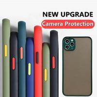 Hibrid Mat Tampon Telefon Kılıfı Için iphone 12 12 Pro Max Mini 7 8 Artı Yumuşak TPU Silikon Kapak