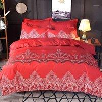 3D роскошные постельные принадлежности и кроватей одеяло одеяло чехол одеяло утешительный комплект двойной король королевы размер роскошный свадьба подарок1
