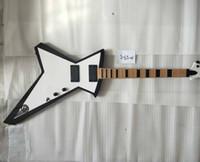 Rara gt glenn tipton judas padre branco creme explorador guitarra electirc, cópia ativa picups 9 caixa de bateria, hardware preto