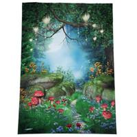 5x7ft conto de fadas vinil estúdio backdrop fotografia prop photo fundo-fantasia floresta