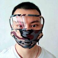 Camuflaje respiradores bebiendo agujeros de moda cara escudo cubierta máscara con cremallera reutilizable lavable mascherine adulto niño variable 9 5TR C2