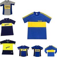 97 99 Retro Classic Boca Juniors 2002 2002 2001 81 Diego Maradona Roma Riquelme Soccer Jersey Tailandia Jerseys Jerseys de fútbol Jerseys Uniformes