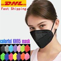 11 cores kn95 descartável face máscaras à prova de poeira à prova de fumaça respirável 5 camada proteção de proteção DHL entrega gratuita