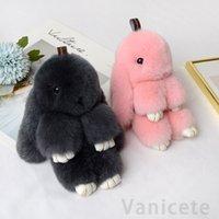 Conejo peluche juguetes pelo conejito relleno muñeca para amantes amigos festival regalo adorable conejo colgante partido favor 100pcs t1i3119