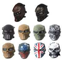 Tactical Equipment Outdoor Shooting Sport Gesicht Schutz Getriebe Vollsicht Taktische Airsoft Cosplay Skull Mask No03-101