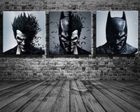 3 Panels DC Comics Movie Poster Canvas Oil Painting Abstract...
