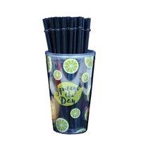القش القش من البلاستيك لعصير طويل الصلب القش الغذاء الصف كمواد آمنة صحية دائم حديقة حزب المنزل استخدام 26 J2