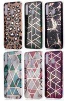 Custodia per la pelle del leopardo del leopardo di marmo del marmo elettroplavato per Samsung A10 A20 A30 A40 A40 A50 A70 A20E A51 A71 Nota10