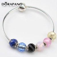 2021 Nouvelle qualité 925 Sterling Silver Bead Charm avec perles de spinelle noir multicolore Fit Essence Bracelet Bracelet Bricolage Bijoux DIY E1016-1020