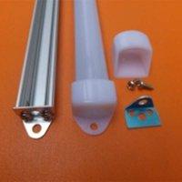 Gratis verzending 2000mmx18mmx11mm 2m lengte led strip licht Milky cover aluminium profiel met eindkappen voor led strips en stijve bar