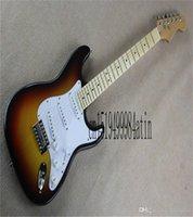 2021 Fabrik Top Qualität Neue Stratocaster Custom Körper 6 String Sunburst E-Gitarre Auf Lager