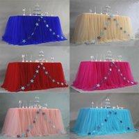 Gonna da tavolo per tavolo da tavolo Party Party Party Dessert Decoration Skirt Bambini Compleanno per bambini Skirting1