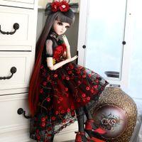 Ucanaan 1/3 bjd poupée 60cm 18 ballon poupées jointes avec tenues Palace maxi robe perruque chaussures chaussures maquillage jouets cadeaux pour filles Collection 201203