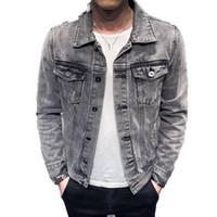 Jaqueta jeans jaqueta moto casacos buraco retro denim casaco streetwear hip hop jaqueta jaqueta cowboy jean caqueta hombre