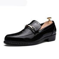 Italienischer Stil Krokodilkorn Formale Männer Zeige Kleid Schuhe Luxuriöse Hochzeit Bräutigam Schuhe Elegant Casual Herren Busines Wohnungen
