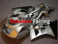 Kroppsarbete för Kawasaki Fairing ZXR250R 90-98 ZXR250 ZXR 250R NINJA ZXR 250 1990 1991 1995 1997 Silver Black Motorcycle Fairings Kit