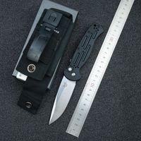 벤치 메이드 나이프 나비 9051 AFO II 측면 자동 칼 154cm 블레이드 6061 T6 알루미늄 합금 손잡이 야외 생존 전술 전투 나이프