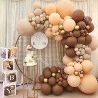 Babyparty Ballons Girlande Kaffee Braun Balloon Bogen Kit Hochzeit Geburtstag Dekorationen Erröten Jubiläum Party Decor Supplies F1222