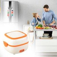 Multifuncional lancheira elétrica Mini fogão de arroz aquecedor de fogão tigelas A0NC1