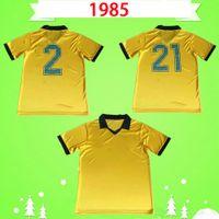 Brazil 1985 1986 Brasil Retro Soccer Jersey Vintage Zico Home Yellow 85 86 Müller Renato Gaúcho Raí Valdo Classic Football Commet