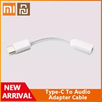오리지널 Xiaomi Youpin Type-C 오디오 남성 - 3.5mm 여성 오디오 어댑터 케이블 타입 C to 3.5 헤드폰 AUX MI6 MI 6 A2 주 3 믹스 2S P20
