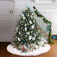 زينة عيد الميلاد الشتاء شجرة تنورة عطلة الديكور قاعدة الطابق حصيرة عدم الانزلاق السجاد أفخم الباب المئزر الأبيض قطع شقة