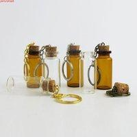 50 x 10ml 8m 7ml 6ml 5ml Vuoto mini bottiglie di vetro carino carino Pendenti a catena chiave Pendenti Piccolo Wishing Cork Vial Arts Barattoli per bracciali Giftsgood Quality